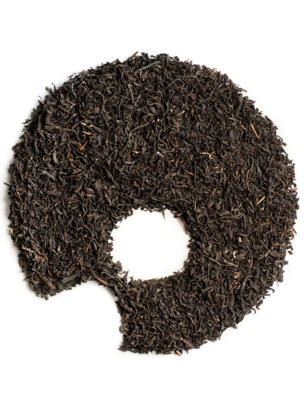 Assam black tea, organic loose leaves ugami shape