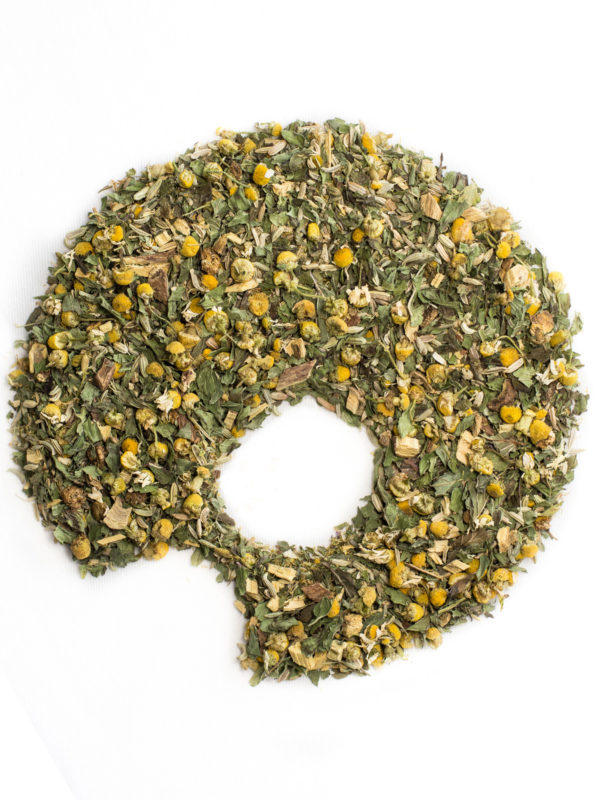 FPLC: fennel peppermint licorice chamomile tisane, organic ugami shape