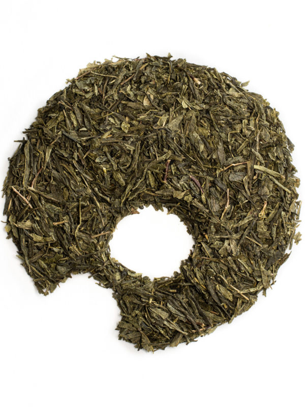 Sencha green tea, loose leaves organic ugami shape